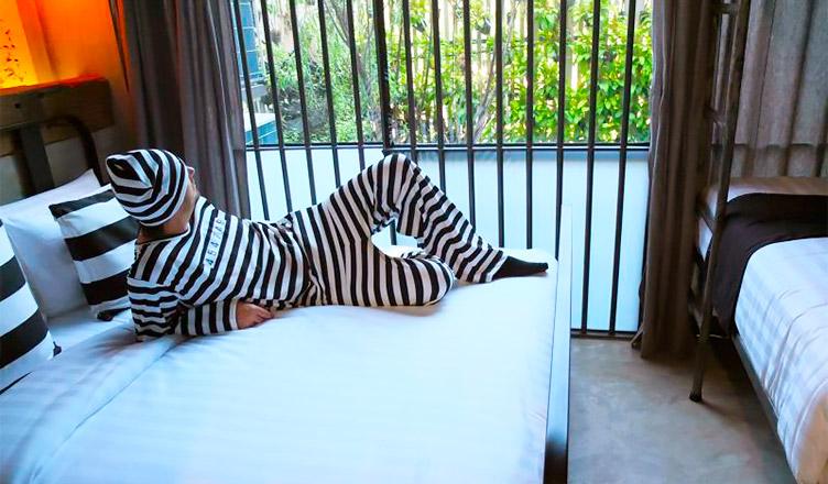 Dormir como un preso es posible en el Hotel Cárcel de Tailandia.