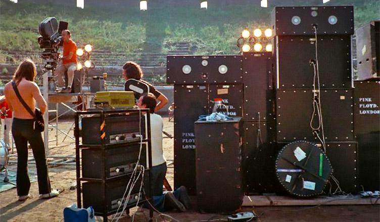 Pink Floyd tras los ecos de las ruinas de Pompeya.