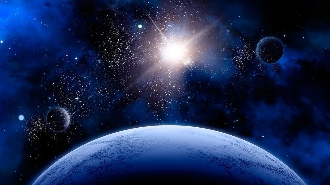 3 planetas en el espacio