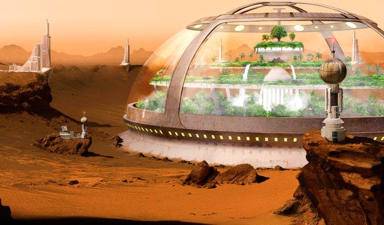 La primera ciudad en Marte se inaugurará en 2117